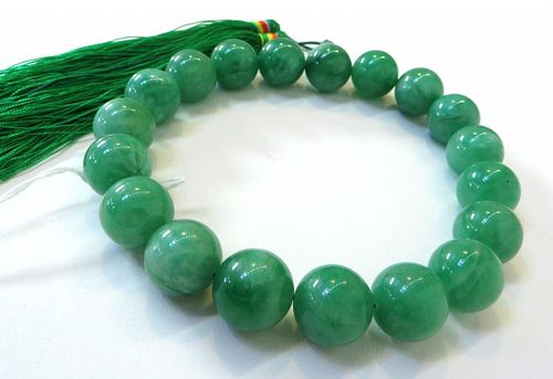 Green Jade Mala With Tassel