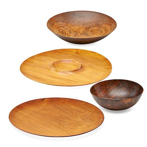 ARTHUR ESPENET CARPENTER Four turned wood items