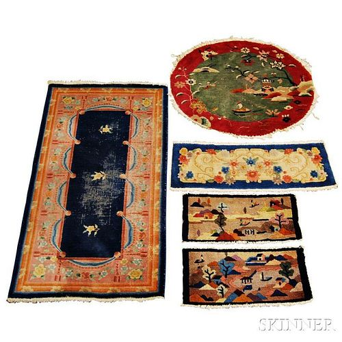 Five Chinese Rugs