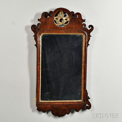 Chippendale Walnut and Parcel-gilt Mirror