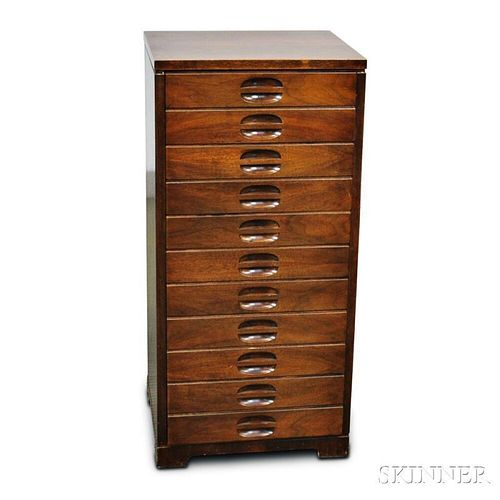 Eleven-drawer Mahogany Music Cabinet
