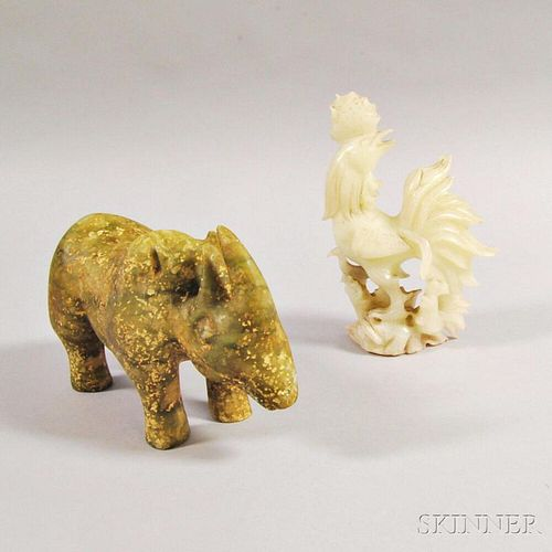 Two Hardstone Animal Carvings