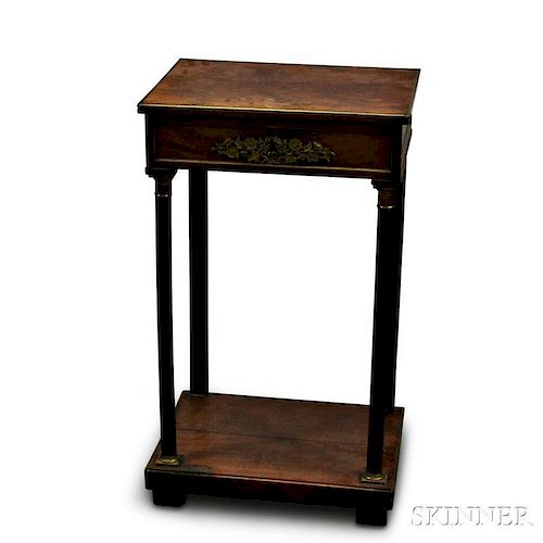 Empire Gilt-bronze-mounted Mahogany Worktable
