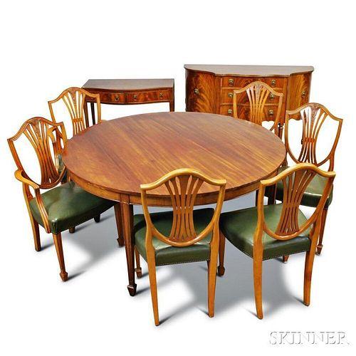 Suite of Georgian-style Mahogany Furniture