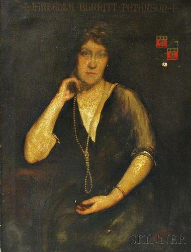 English School, 19th/20th Century       Portrait of Isabella Burritt Peterson.