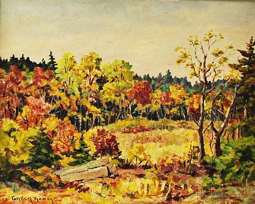 Parker Gamage (Maine, 1882-1960)       Last of the Autumn Leaves.