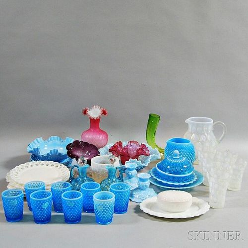 Approximately Thirty-nine Pieces of Colored Glass