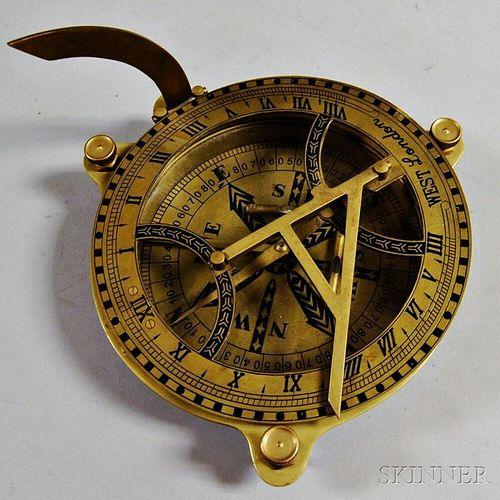 Large Brass Equinoctial Sundial
