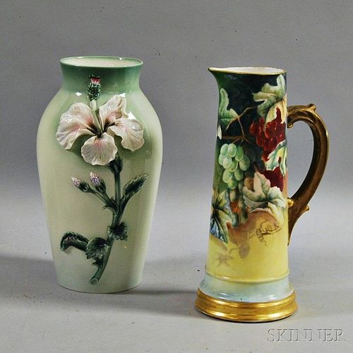 Two Continental Ceramic Vessels