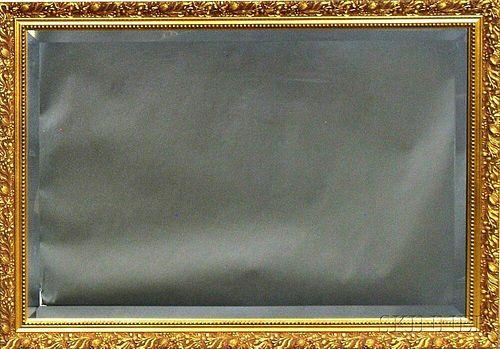 Contemporary Gilt-gesso Beveled Mirror