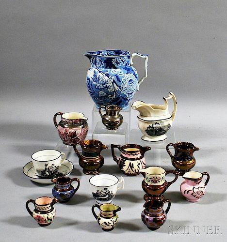 Sixteen Ceramic Vessels