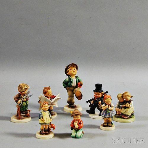 Eight Hummel Figures