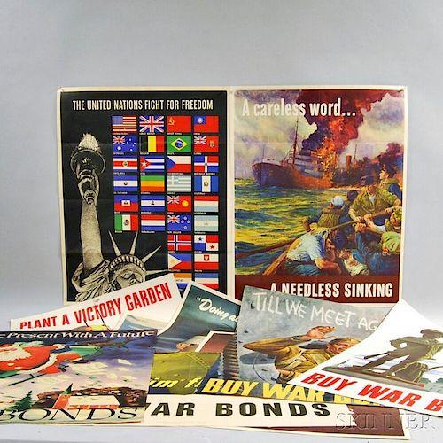 Nineteen WWII War Bond Posters