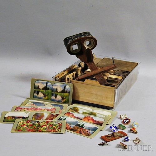 Mercury Stereoscope and Large Group of Cards