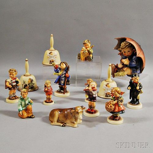 Fourteen Ceramic Hummel Figures