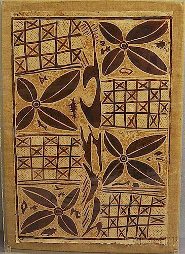 Polynesian Tapa Bark Cloth Painting