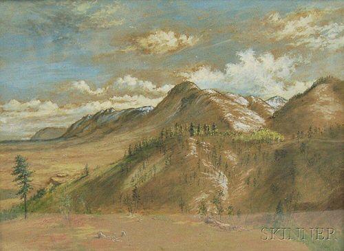 Samuel Edmonston (British, 1825-1904)      Mountain Landscape.