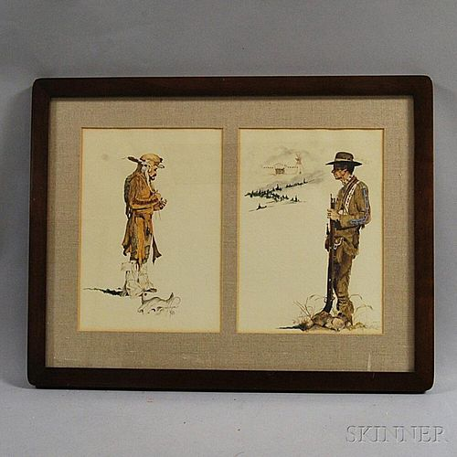 Two Judith Angell Meyer (American, 20th/21st Century) Prints of Western Figures