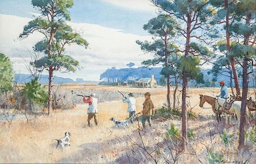 Aiden Lassell Ripley (1896-1969) Quail Country