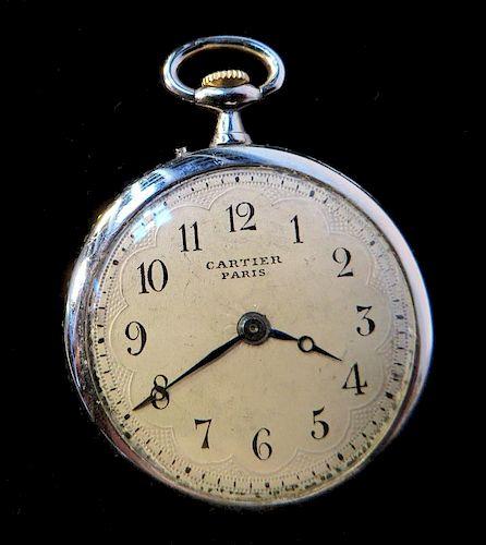 Miniature Platinum & Diamond Cartier Watch