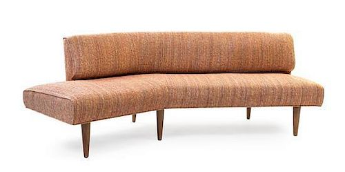 * An Edward Wormley Upholstered Sofa, for Dunbar, Height 30 inches.