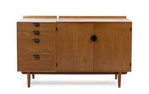 * A Finn Juhl Walnut Cabinet, for Baker, Height 30 x width 65 x depth 45 inches.