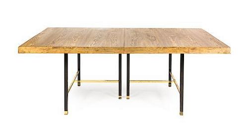* A Harvey Probber Walnut Extension Table, Height 29 x width 80 1/8 x depth 44 1/8 inches (closed).