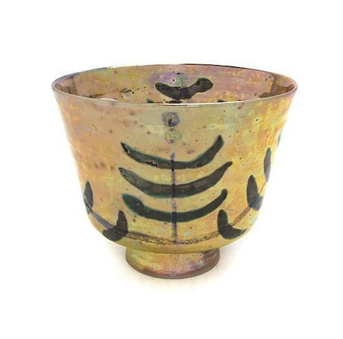 * A Beatrice Wood Iridescent Pottery Vase, (American, 1893-1998), Height 5 inches.