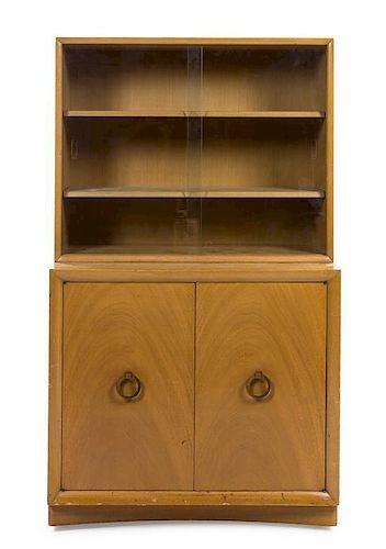 * A T.H. Robsjohn-Gibbings Walnut Cabinet, for Widdicomb, Height 61 x width 36 x depth 14 inches.