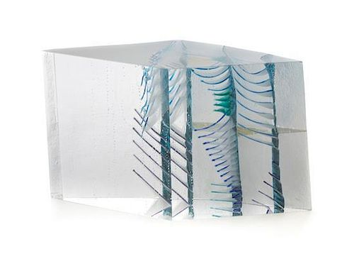 * A Czechoslovakian Studio Glass Sculpture, Vladimira Klumpar (b. 1954), Width 11 inches.