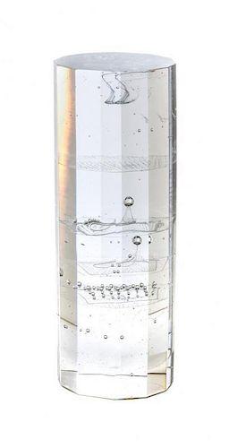 * A Czechoslovakian Studio Glass Sculpture, Jaromir Rybak (b. 1952), Height 15 5/8 inches.
