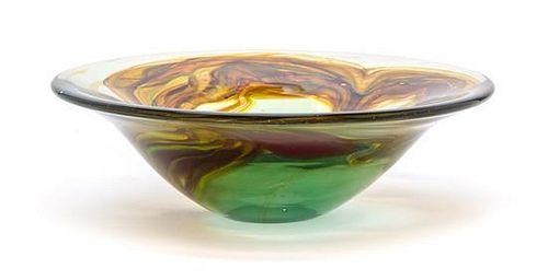 * An American Studio Glass Bowl, Richard Ritter (b. 1940), Diameter 9 3/8 inches.