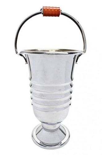 A WMF Silver-Plate Champagne Bucket, Height 16 1/8 inches.