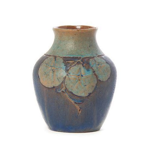 An American Arts and Crafts Pottery Vase, Height 5 3/4 inches.