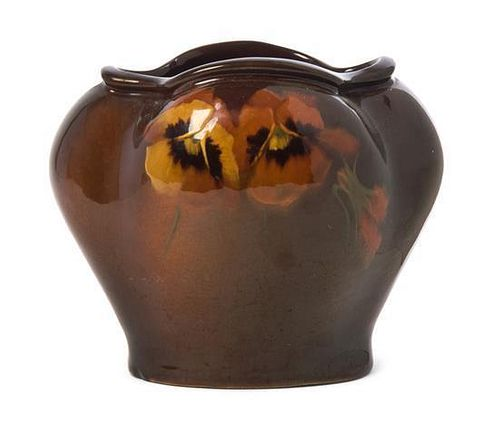 A Weller Pottery Louwelsa Vase, William Hall, Height 5 1/4 inches.
