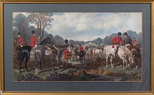 Artist Unknown, (British, 19th century), The Hunt (two works)