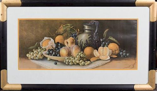Artist Unknown, (20th century), Still Life with Pitcher and Peaches