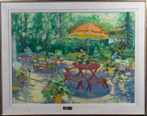A. Cole, (20th century), Elmhurst Garden