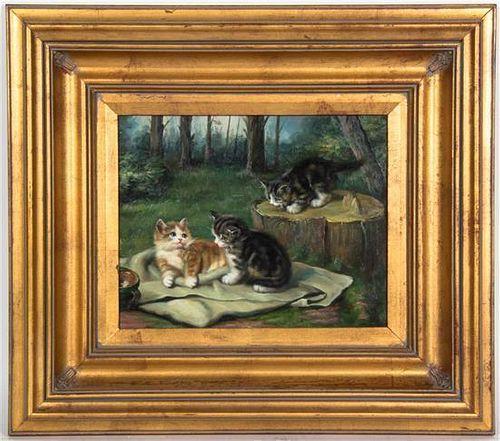 * Artist Unknown, (20th century), Three Kittens