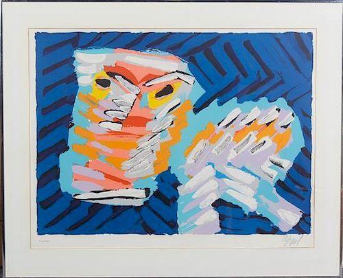 Karel Appel, (Dutch, 1921-2006), Sad Cat (from Cats portfolio), 1978