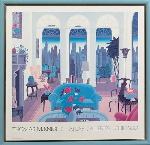 Thomas McKnight, (American, b. 1941), Atlas galleries Exhibition Poster