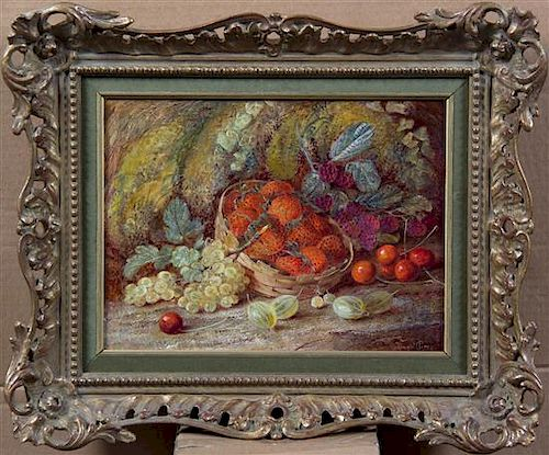* Vincent Clare, (British, 1855-1930), Still Life with Fruit