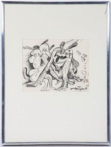 * Maryan (Pinchas Burstein), (American, 1927-1977), Untitled, 1969