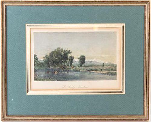 W. Whittepedge, (19th century), Rocky Mountains, 1871