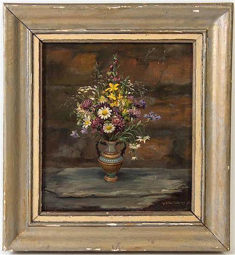 W. Dikel-Solvius, (20th century), Still Life with Flowers, 1945
