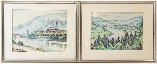 Artist Unknown, (Continental, 20th century), Riverscapes (two works)