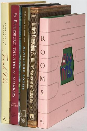 * A Group of Books Pertaining to Interiors,