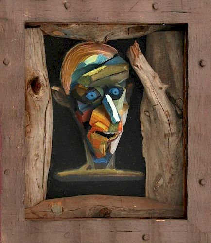 John Albers Mixed Media Sculpture, Original Work