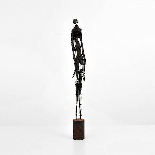 Tall Modernist Figural Sculpture
