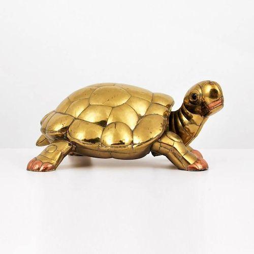 Large Sergio Bustamante Turtle Sculpture